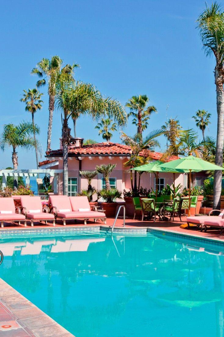 La Jolla is pretty in pink (and blue).  La Valencia Hotel (San Diego, California) - Jetsetter