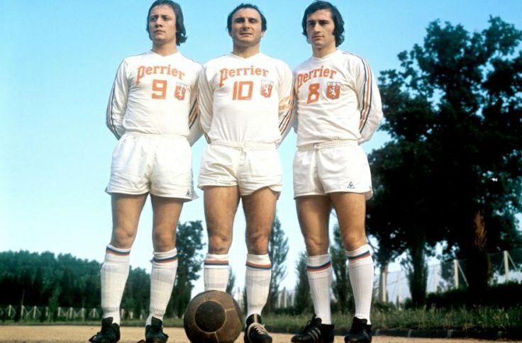1973 Bernard Lacombe, Fleury Di Nallo et Serge Chiesa