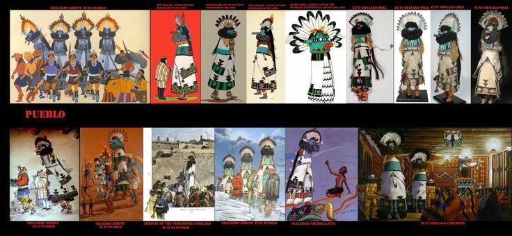 Shalako è uno spirito Kachina tipico degli Zuni, in suo onore vengono eseguite una serie di danze e cerimonie nel periodo del solstizio d'inverno. cerimonie Shalako in tempi storici sono penetrate tra gli Hopi e gli Zia, dimostrazione delle relazioni culturali che intercorrono tra i vari popoli Puebloan.
