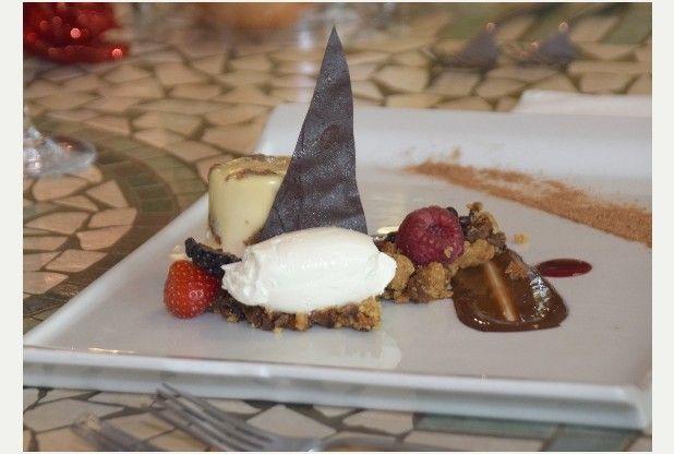 Recipe: Christmas pudding panna cotta with brandy cream
