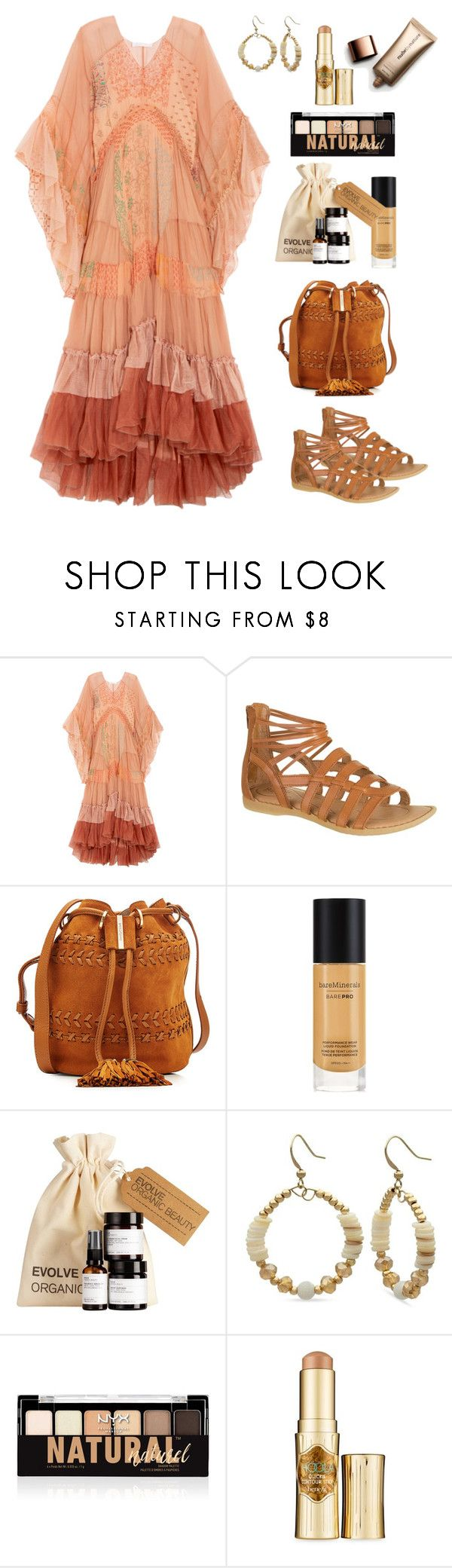 """Boho Baby!"" by alara-cary on Polyvore featuring Chloé, See by Chloé, Bare Escentuals, Kim Rogers, NYX, Benefit and Nude by Nature"