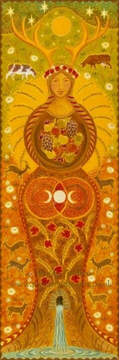 Lammas by Wendy Andrews - though it clearly looks like the antlered goddess Elen of the Ways #elenoftheways #elen #antleredgoddess