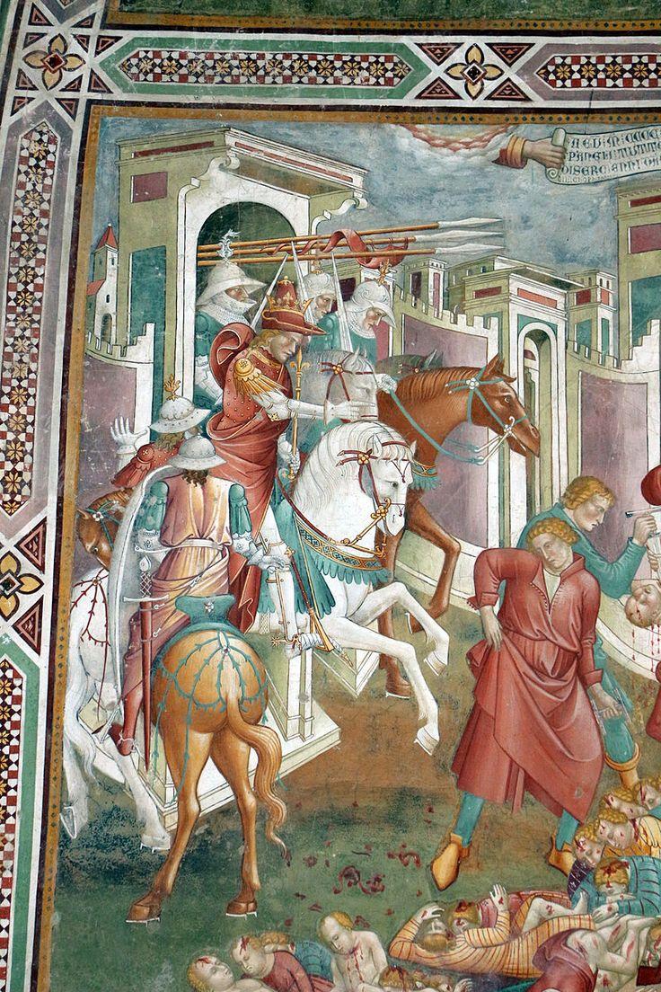 Cenni di francesco, cappella della croce di giorno, 1410, strage degli innocenti 02.JPG