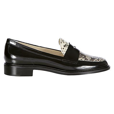 Hobbs Wynne Loafer, Black Snake Online at johnlewis.com #snake #print #loafers #hobbs