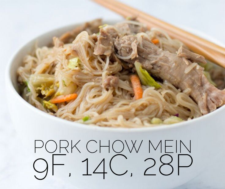Low carb, macro-friendly recipe for Pork Chow Mein. Just like take out, only healthier.