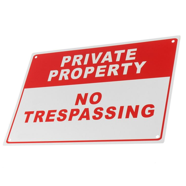 NEW Private Property No Trespassing Metal Safety Warning Sign 4 Drilled Hole 20x30cm Home Security #Affiliate