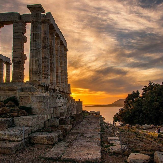 ✴ Temple of Poseidon, Cape Sounion...  Photo from @stef_greece!