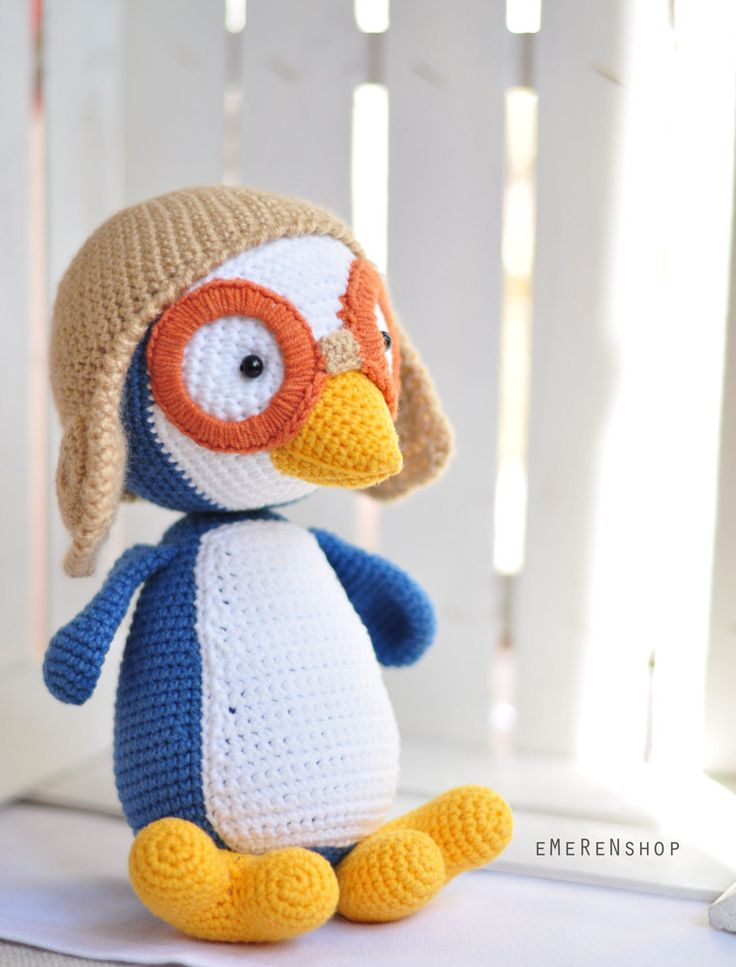 Crochet penguin, amigurumi penguin, crochet penguin, stuffed animals, Soft toys, Pororo, crochet softie, crochet animal. by EMERENstore on Etsy