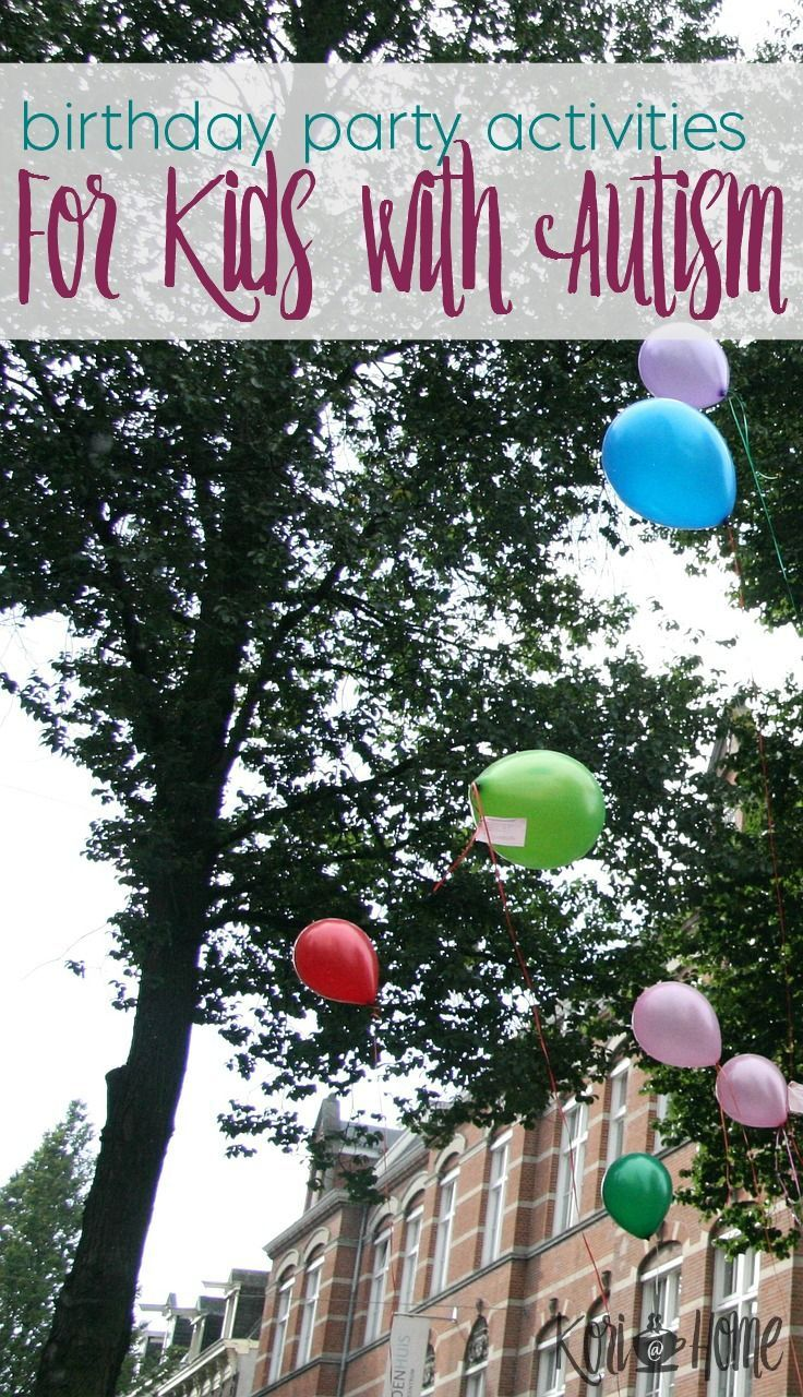 Planning a birthday party for a child can be fun. Planning a birthday party for an autistic child? Sometimes that's not easy, especially when keeping sensory needs in mind. Here are sensory friendly ideas and activities for kids with autism.