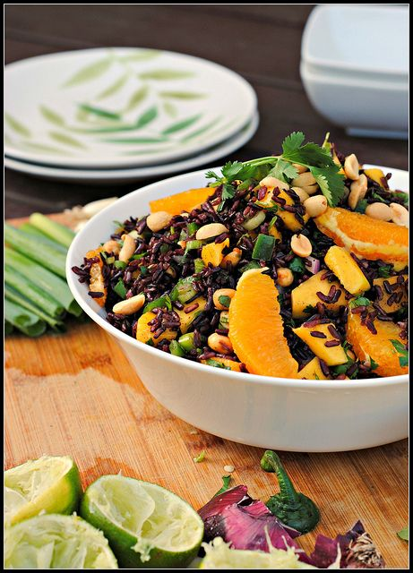 Black rice salad | food! | Pinterest