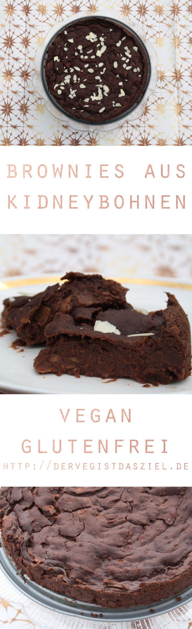 Brownies, vegan, vegane Brownies, Kidneybohnen