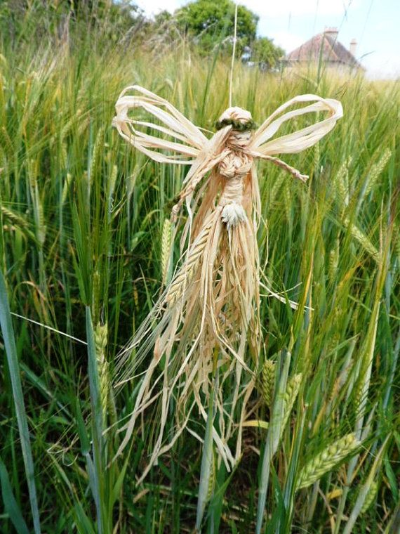 Lammas Barley Faerie / Fairy.  Handmade Corn Dolly. by PositivelyPagan, £9.50