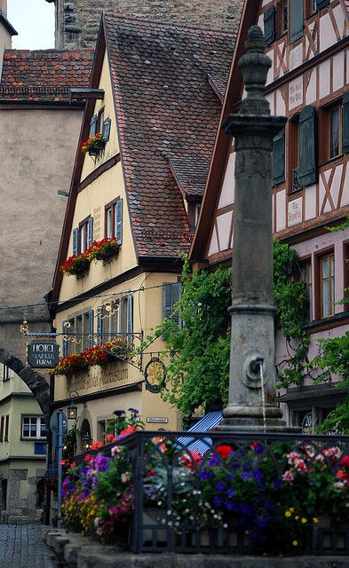 Rothenburg ob der Tauber (meaning on the Tauber River), Germany. Loved this place, it was straight out of a fairytale