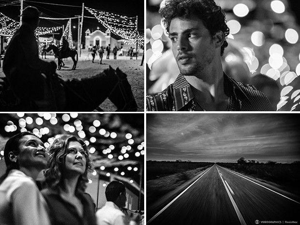 Cliques em preto e branco compõem a abertura de 'Amores' (Foto: Videographics / Flavio Mac)  | #AmoresRoubados TV Globo