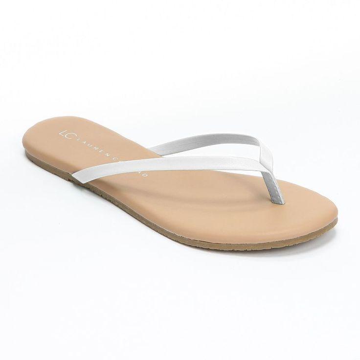LC Lauren Conrad Women's Flip-Flops, Size: 10, White