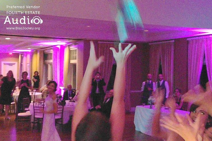 A spirited bouquet toss at Arrowhead Golf Club. http://www.discjockey.org/real-chicago-wedding-october-10-2015/
