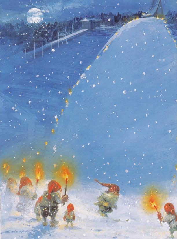 Skiing Nisse - Svein Solem