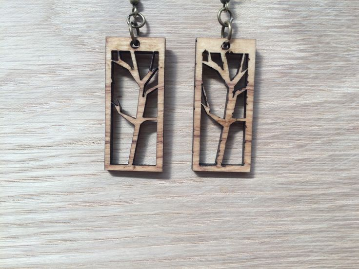 Olive wood earrings.
