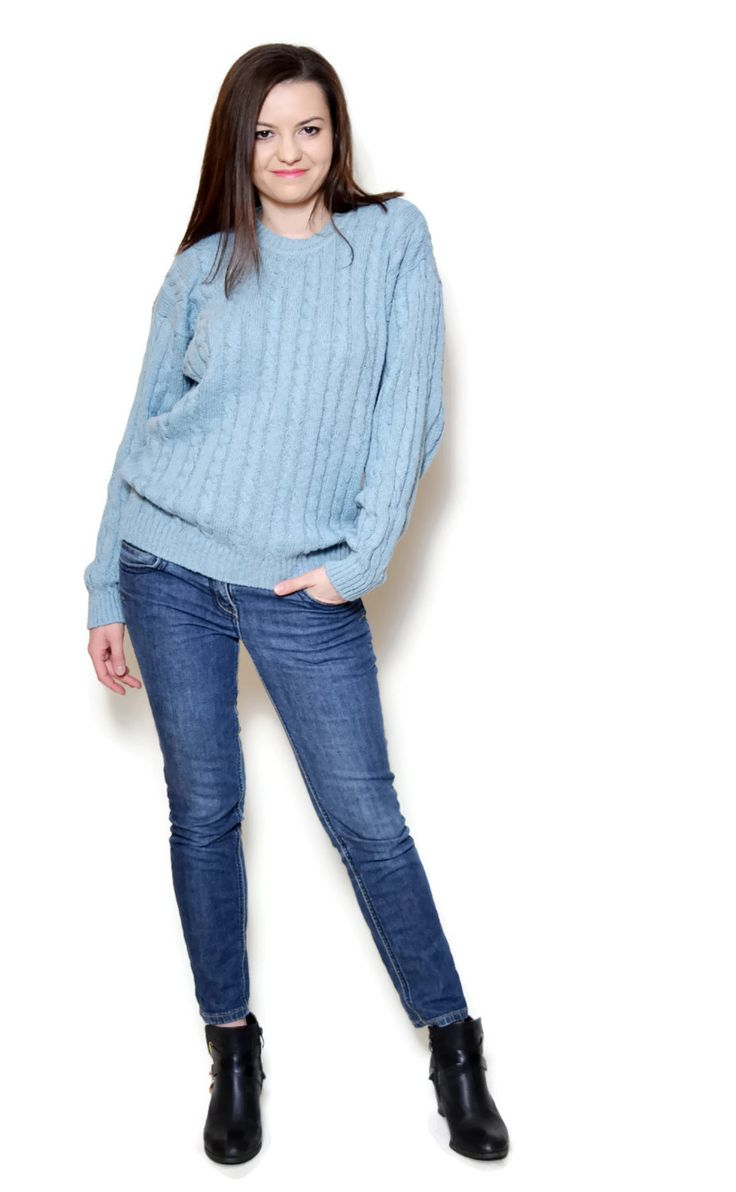 blue pullover sweater  US$69.95