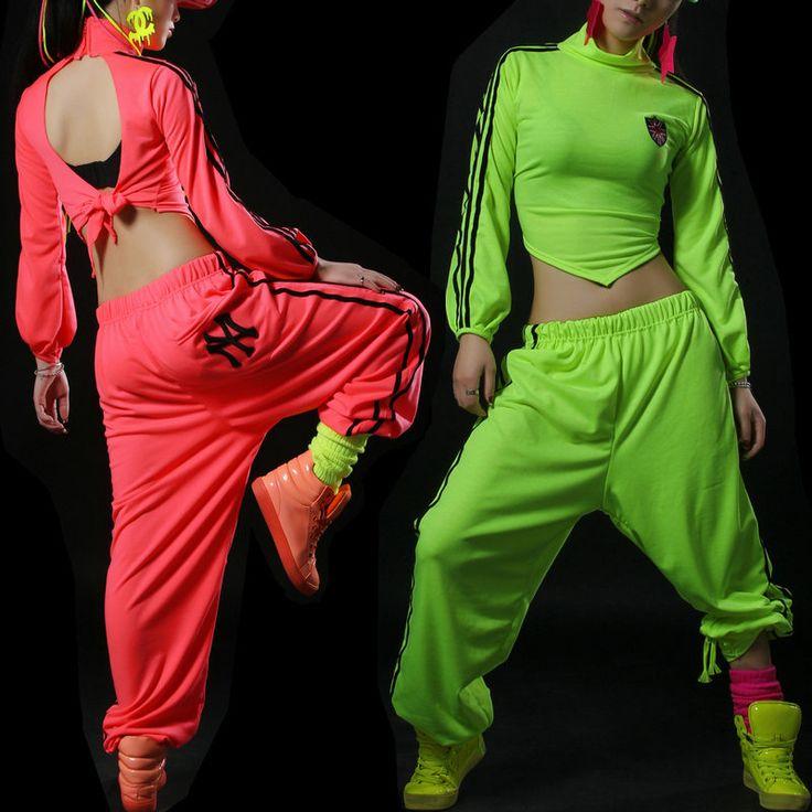 Купить товар2016 новинка женщины неон шаровары широкий свободного покроя женский хип хоп брюки спуск костюмы для выступлений танец джаз брюки в категории Брюки и каприна AliExpress. 2016 новинка женщины неон шаровары широкий свободного покроя женский хип-хоп брюки спуск костюмы для выступлений танец джаз брюки