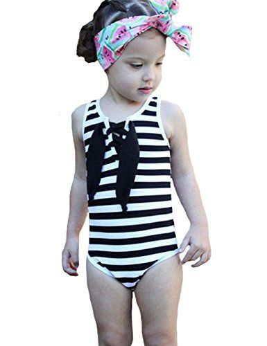 3d7ae0caa BANGELY Kids Girls Summer Cute Striped One-piece Sleeveless Bikini Swimsuit.  Find this Pin and more on Swimwear ...
