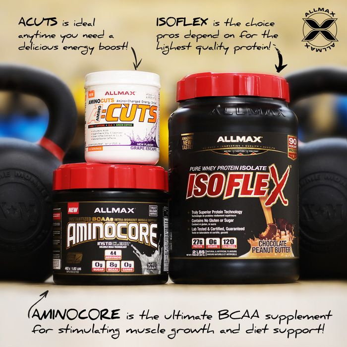 #ACUTS is your PRE-achievement that is easy-to-mix, has 4.2g of amino acids and is loaded with diet-friendly ingredients like natural-source caffeine 125mg.  #AMINOCORE is your INTRA-support with 8,180 mg of #BCAAs! Perfect to consume during your workout to drive up anabolic impact, or away from the gym when you can't get your protein in and you need to prevent the catabolic breakdown. #ISOFLEX is for your POST-gains and is a pure 100% #wheyprotein isolate. 90% protein content with only…