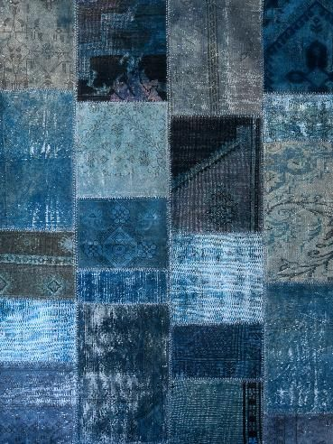 Blue: Colors Azul, Colors Bleu, Blue Patchwork, Blue Fabric, Blue Rugs, Indigo Blue, Colors Stained, Denim Blue, Blue Denim