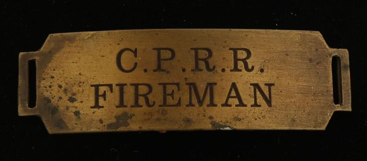 Old West Central Pacific Railroad CPRR Cap Badge