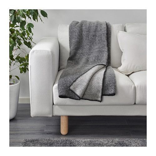 STRIMLÖNN Throw IKEA Made of pure new wool. The throw is soft to the touch and durable.