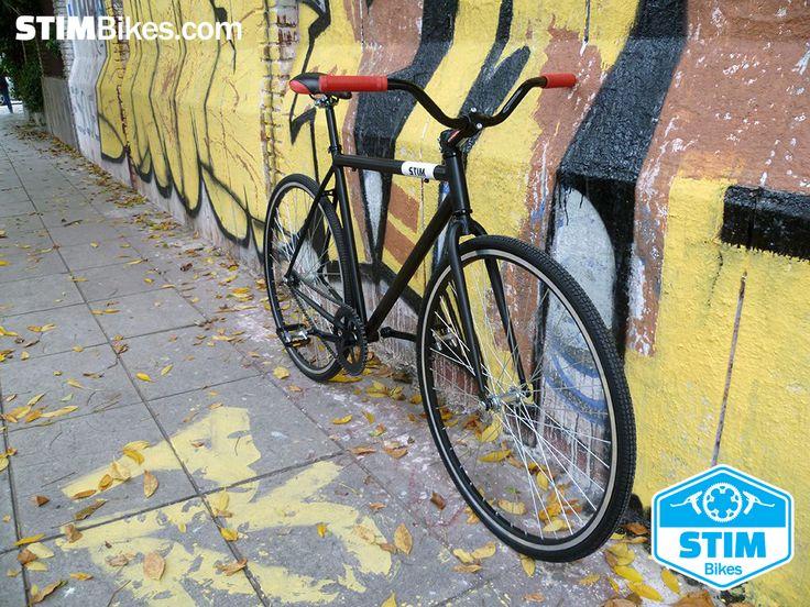 "Marco de hierro Negro Mate, rodado 28"", ruedas 700 x 32C 700C Course, single speed, freno contra pedal. // Iron frame Matte Black, 28"" wheelset, 700 x 32C 700C Course tires, single speed, coaster brake hub."
