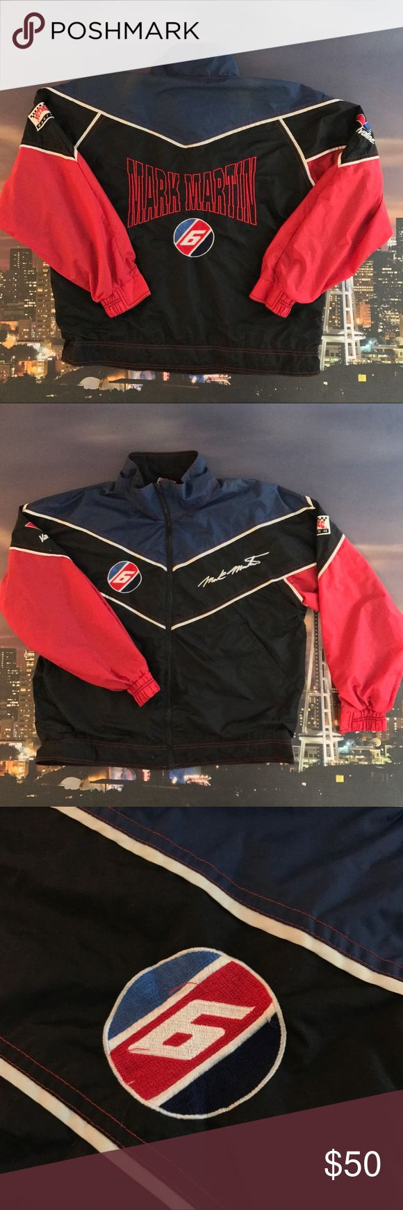 Vintage Mark Martin Iconic Racing Jacket Authentic and a rare collectors item Jackets & Coats Lightweight & Shirt Jackets