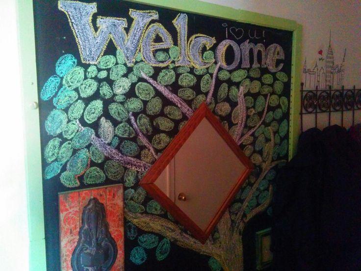 Chalkboard entry welcome