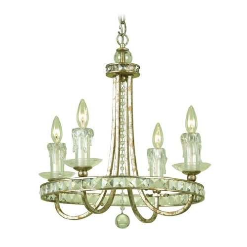 Af Lighting Traditional Crystal Mini Chandelier Candice Olson Design 7450 4h