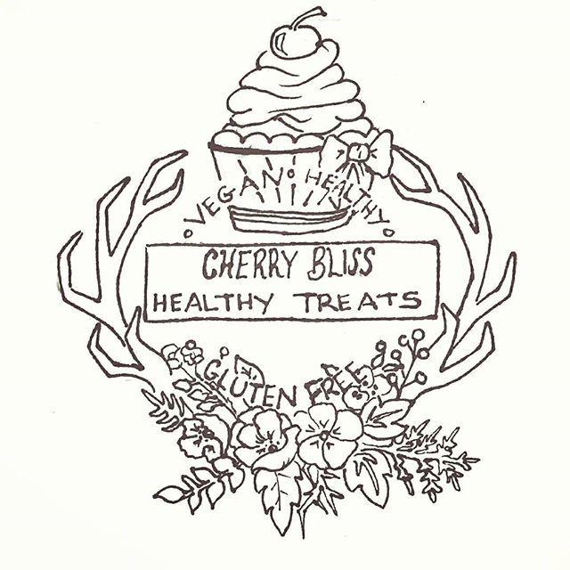 My new logo design for my healthy vegan and gluten free cooking