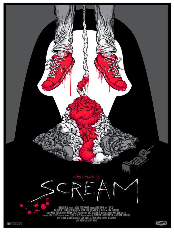 Scream movie art by Alamo Drafthouse.