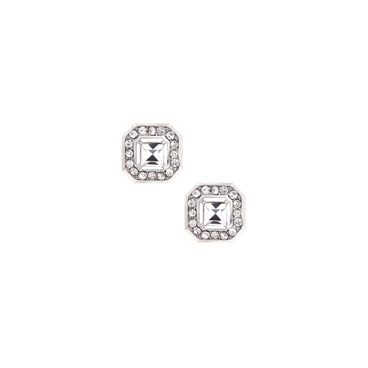 Crystal Square Studs- perfect for day-night #studs #chloeandisabel #jewelry  #