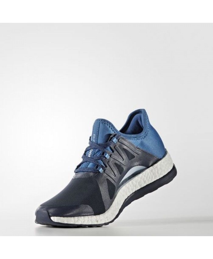 Adidas Pure Boost Xpose Shoes BB6018 Midnight Grey Core Blue Easy Blue