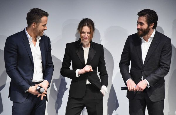 """Jake Gyllenhaal Photos Photos - (L-R) Actors Ryan Reynolds, Rebecca Ferguson and Jake Gyllenhaal attend the """"Life"""" premiere during 2017 SXSW Conference and Festivals at the ZACH Theatre on March 18, 2017 in Austin, Texas. - 'Life' Premiere - 2017 SXSW Conference and Festivals"""