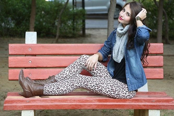 THE WILD ONE LEOPARD-PRINT LEGGINGS