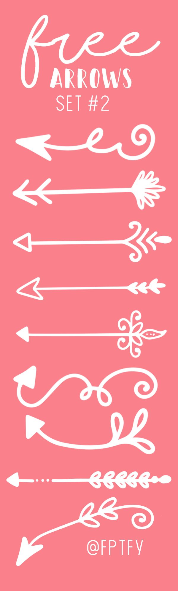 Free Hand Drawn Arrows Set #2