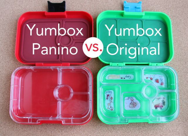 yumbox panino vs yumbox original comparison originals lunches and school lunch. Black Bedroom Furniture Sets. Home Design Ideas