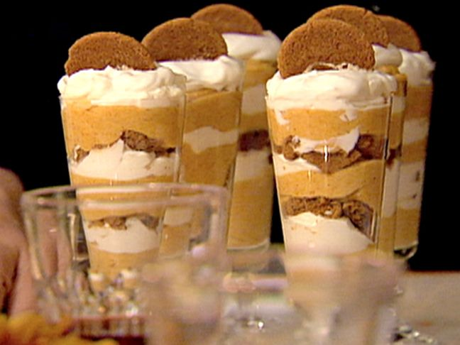 Oh my! - Pumpkin Mousse Parfaits from FoodNetwork.com    #Thanksgiving #Halloween #Recipes