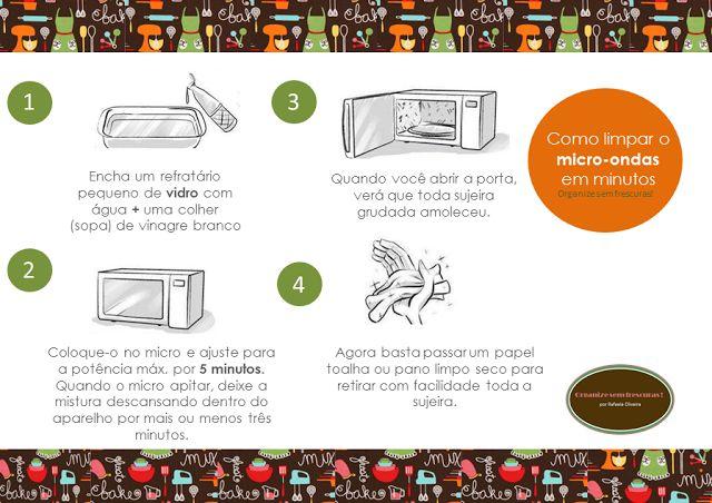 Organize sem frescuras!: Como limpar o micro-ondas em minutos