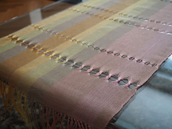 Woven table runner - rigid heddle loom