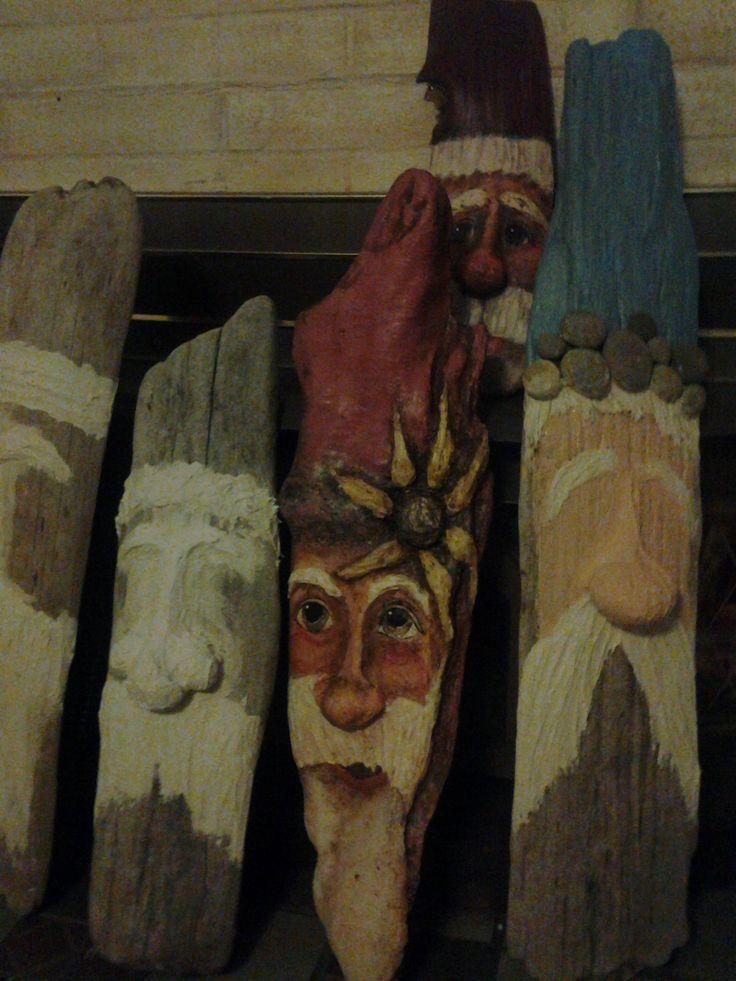 Driftwood Santa's..Start to Finish