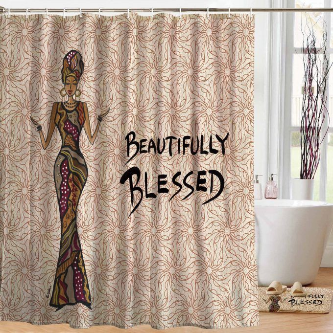 Beautifully Blessed Designer Shower Curtains Designer Shower Curtains African Shower Curtain Shower Curtain
