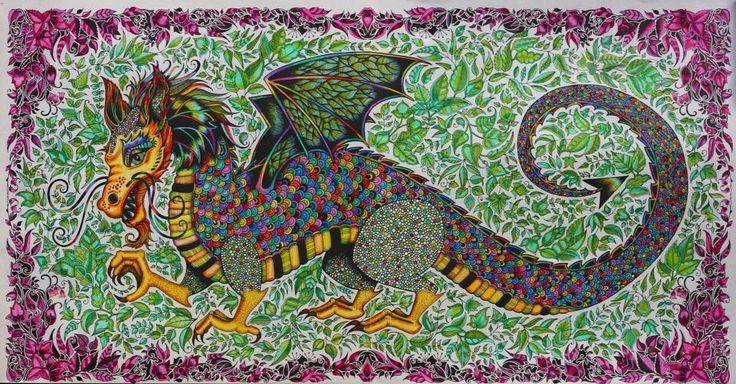 Dragon Enchanted Forest Dragao Floresta Encantada Johanna Basford