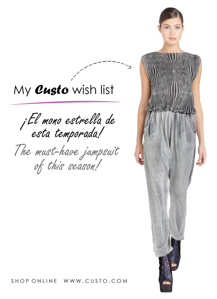 ¡Nuevo fichaje para nuestra Wish List! ¿Lo añadirías a la tuya? New addition to our Wish List! Would you add it to yours?   Shop it online at custo.com!