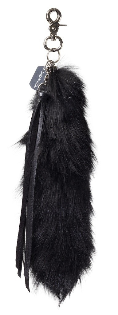Black Fox Tail Keychain