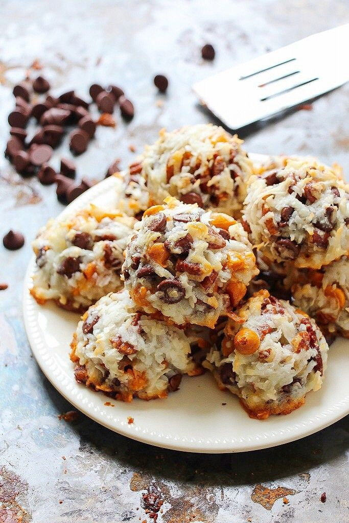 7 Layer Bar Coconut Macaroons - Layers of Happiness
